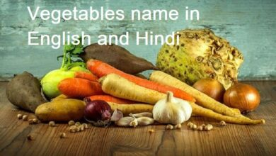 Photo of Vegetables name in English and Hindi for class 1 to 10